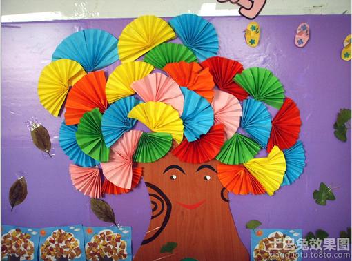 幼儿园教室主题墙面设计效果图