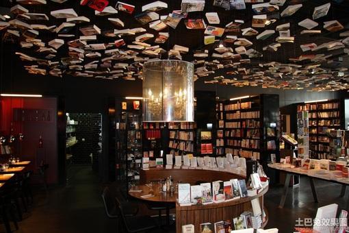 创意书店吊顶装修效果图片