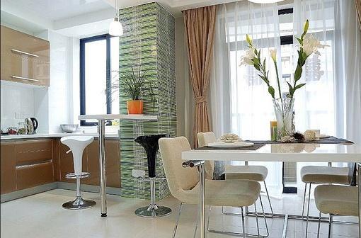 家庭厨房餐厅一体装修效果图欣赏