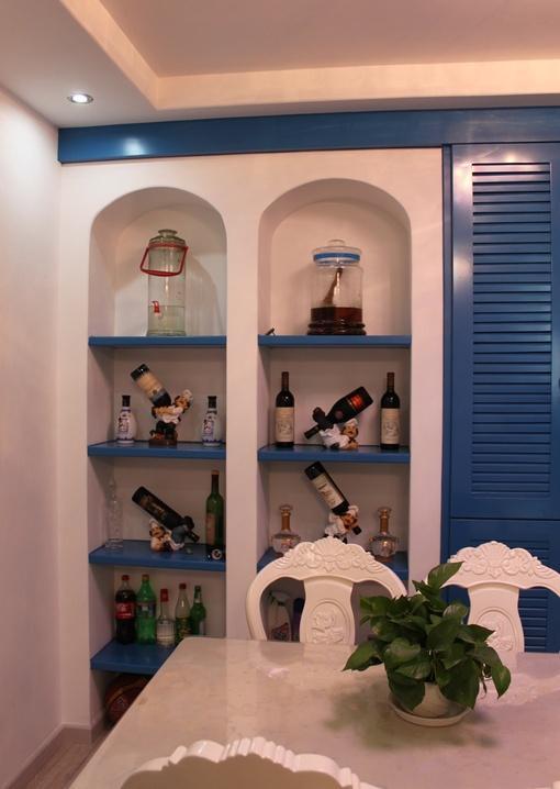 地中海餐厅酒柜效果图