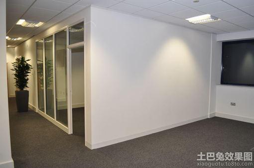 办公室隔断墙效果图