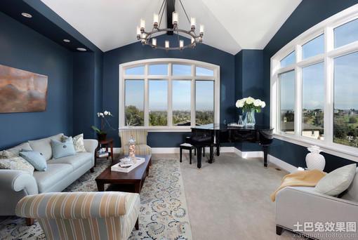 别墅客厅乳胶漆颜色效果图