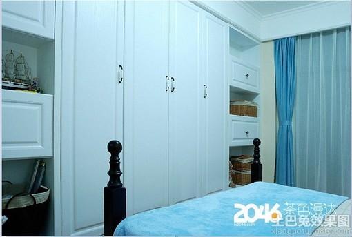简欧式卧室壁柜装修效果图