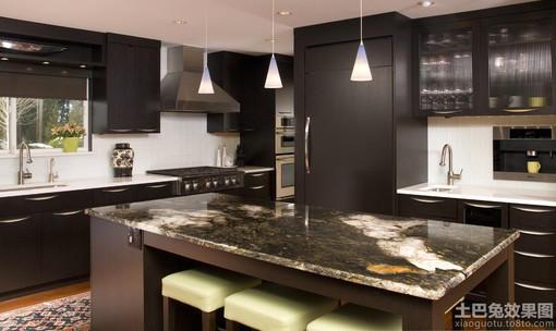 开放式厨房吧台大理石台面图片大全