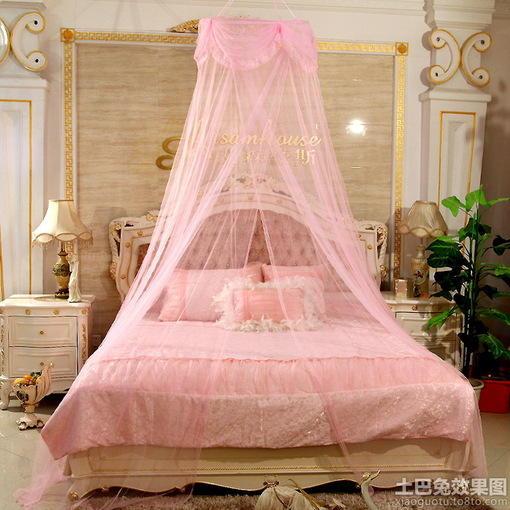 欧式卧室床幔装修效果图