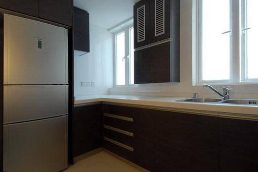 開放式廚房裝修實景圖