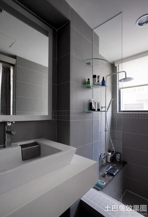 小面积简约卫生间装修效果图