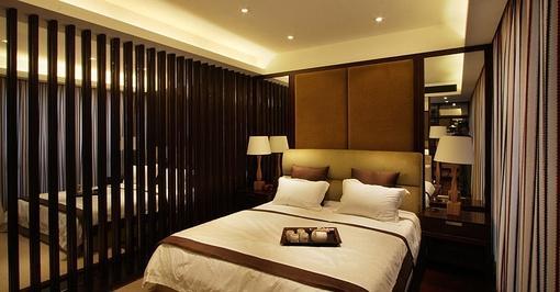 卧室床头硬包背景墙装饰效果图