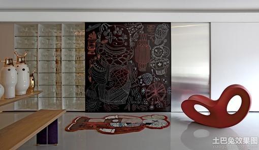 室内手绘涂鸦背景墙效果图