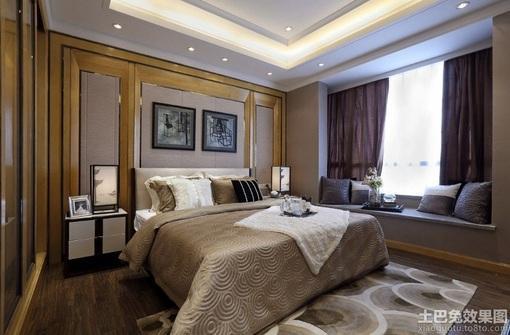 现代风格卧室飘窗装修效果图片