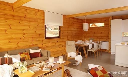 客厅原木色木纹材质贴图
