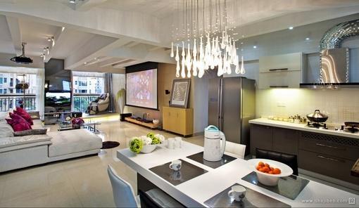 客厅餐厅一体装饰效果图