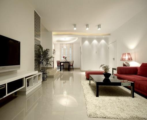 装修(组图)   现代风格的客厅吊顶装修效果图大全2012图片集