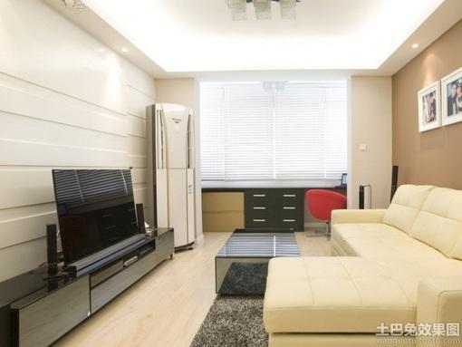 简约小客厅电视背景墙设计效果图