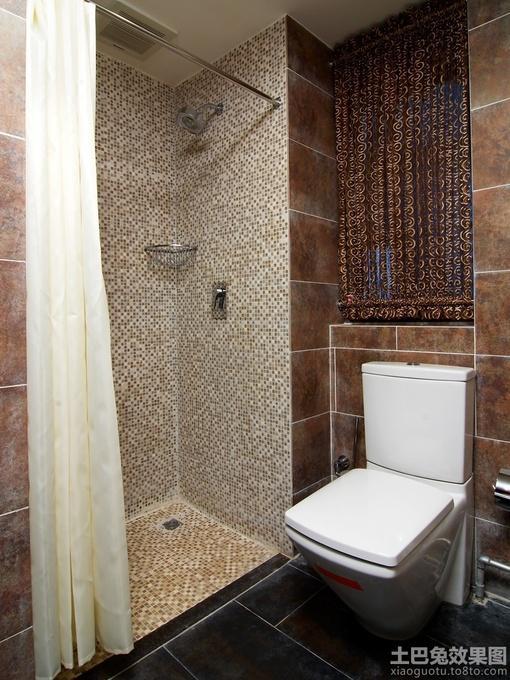 卫生间淋浴室马赛克背景墙装修效果图片