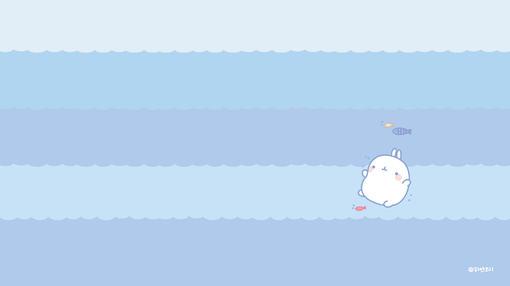 韩国可爱胖乎乎卡通兔子高清桌面壁纸