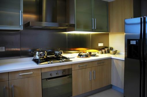簡約家庭廚房灶臺裝修效果圖