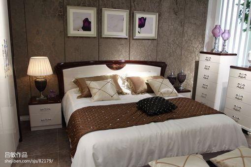 主臥室床頭背景墻裝修效果圖圖片