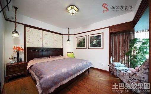 简中式主卧室装修效果图片
