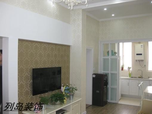 欧式风格客厅壁纸电视背景墙装修效果图欣赏