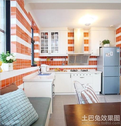 小户型开放式 厨房墙砖效果图 hao123网