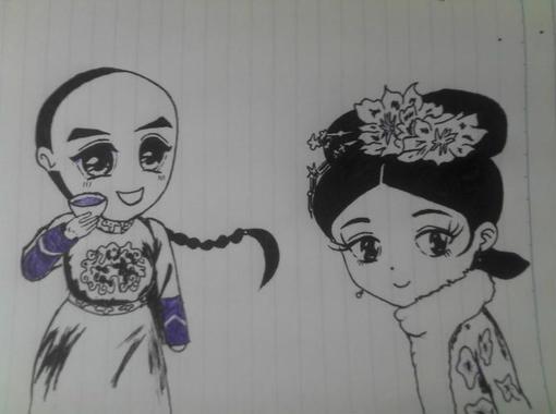 圆珠笔手绘漫画