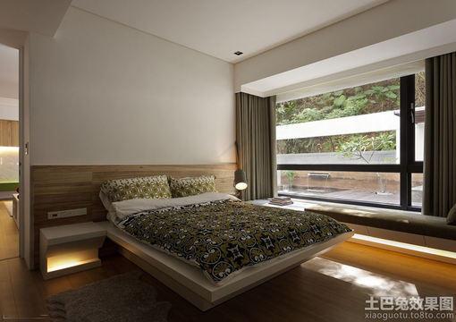 简装小卧室床摆放效果图