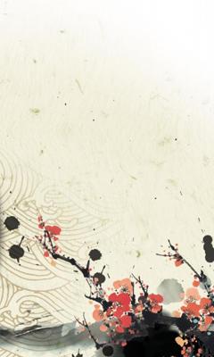 240x400水墨山水画手机壁纸 15