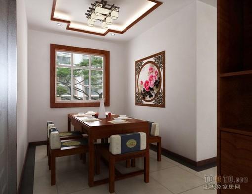 中式餐厅挂画装修效果图