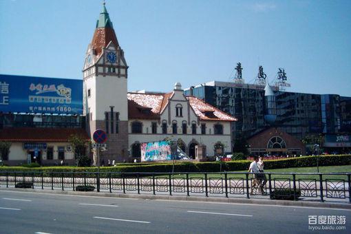 青岛火车站风景美图