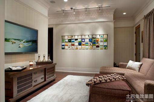 小客厅电视柜背景墙装修效果图