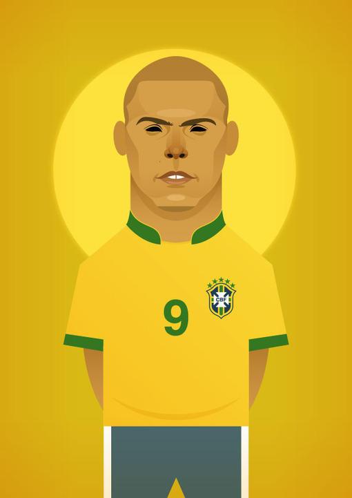 足球明星插画海报