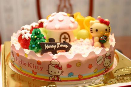 [] 【kitty】可爱的hello kitty蛋糕~喜欢吗?