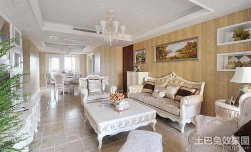 欧式风格客厅装饰画效果图