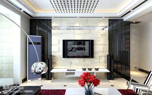 现代简约电视背景墙装修设计图片