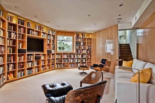 客廳書柜電視墻裝修效果圖大全2013圖片