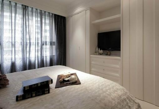 现代简约风格卧室壁柜设计效果图