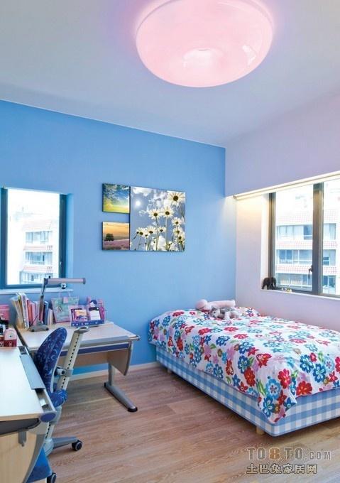 简约卧室墙漆颜色装修效果图