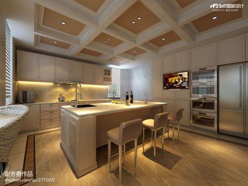 开放式厨房集成吊顶效果图欣赏