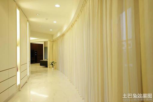 欧式别墅长走廊窗帘效果图