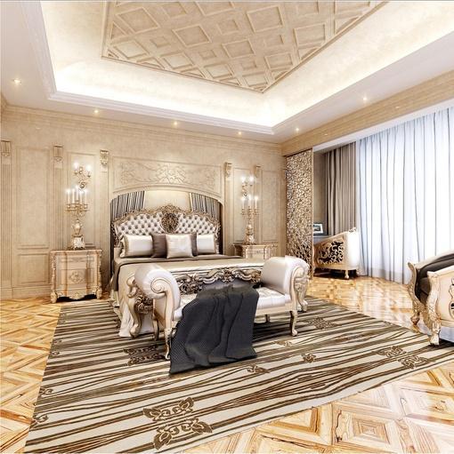 奢华欧式卧室装修效果图大全2013图片