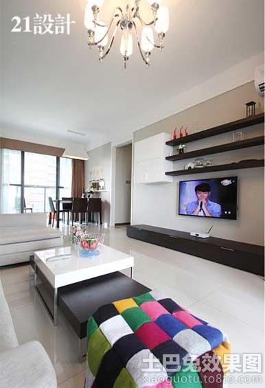 极简主义风格客厅电视背景墙效果图