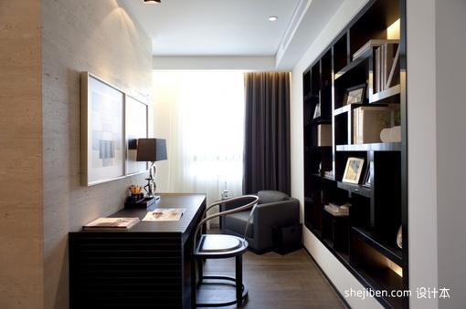新中式小书房装修效果图大全2013图片