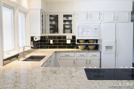 大理石厨房台面效果图片