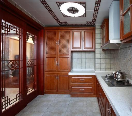 中式廚房裝修效果圖大全