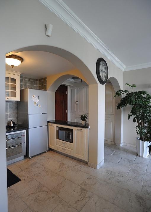 田园风格开放式小厨房装修效果图欣赏