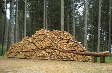 堆木柴,我有特别的技巧