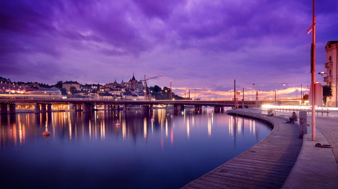 风景桌面壁纸_瑞典首都斯德哥尔摩宽屏壁纸_第7张壁纸