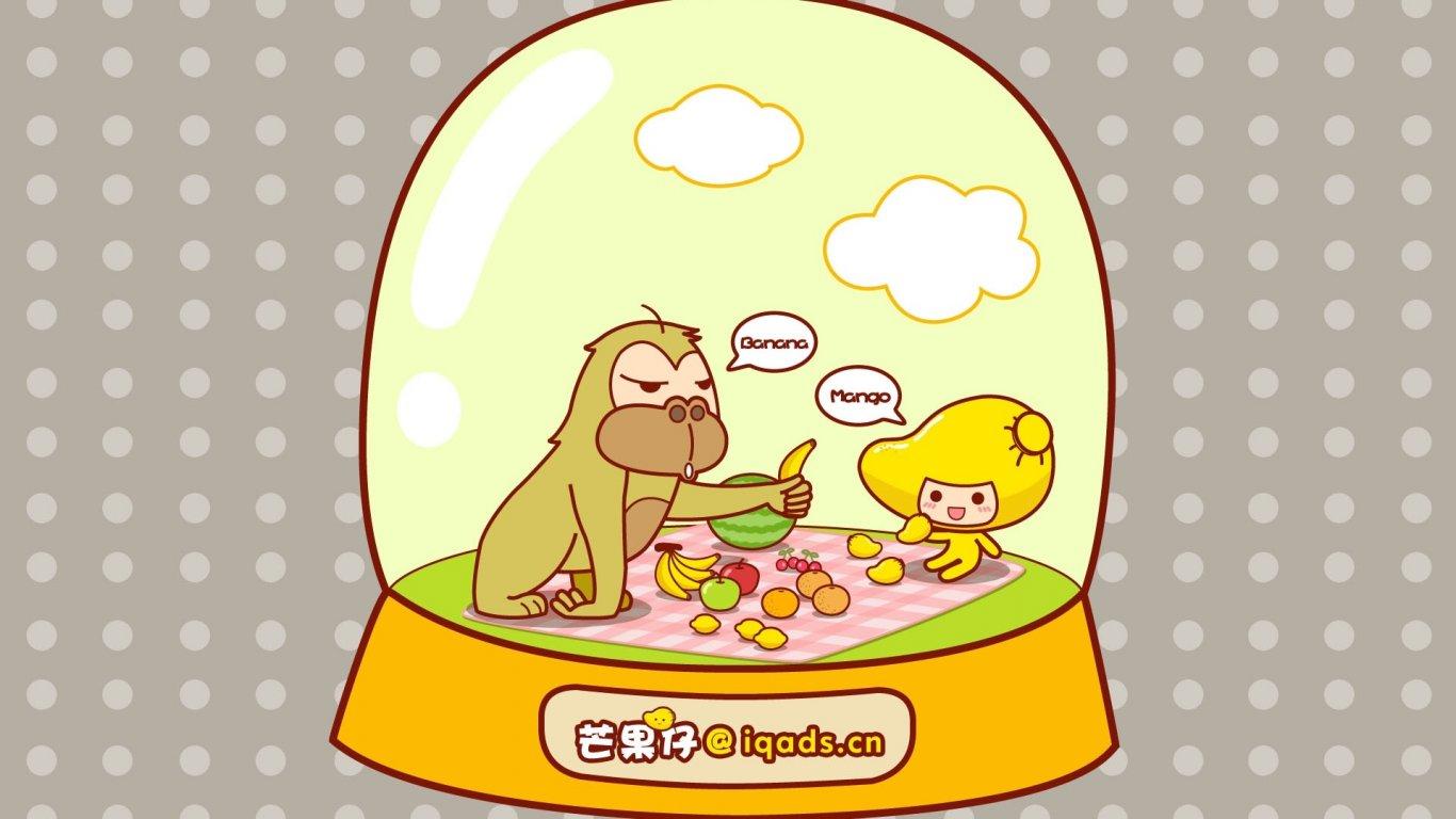 动漫 卡通 可爱 插画 芒果仔 儿童桌面专用 动漫卡通