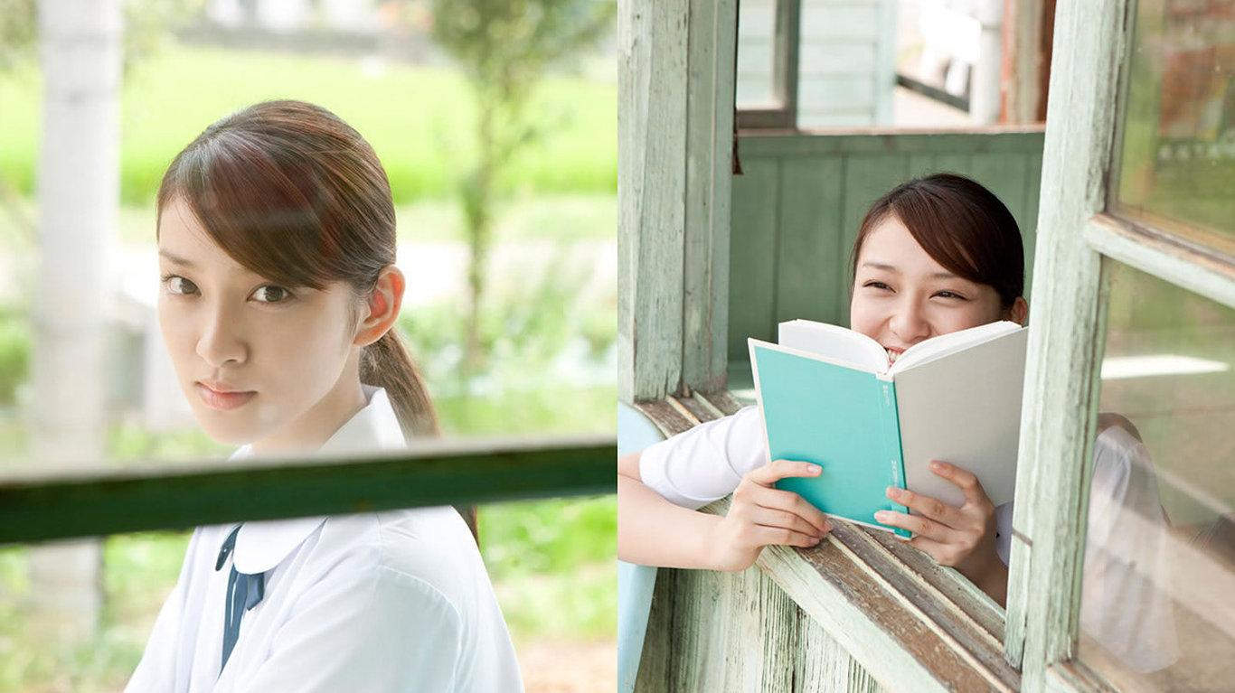 美女桌面壁纸_日本清纯学生妹武井咲可爱写真壁纸